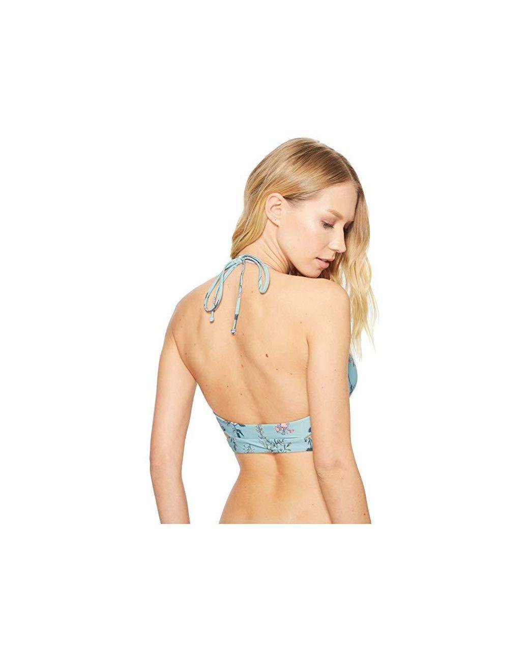 b286324348e O'neill Sportswear Piper Floral Wrap Bikini Top (aqua) Swimwear in Blue -  Lyst