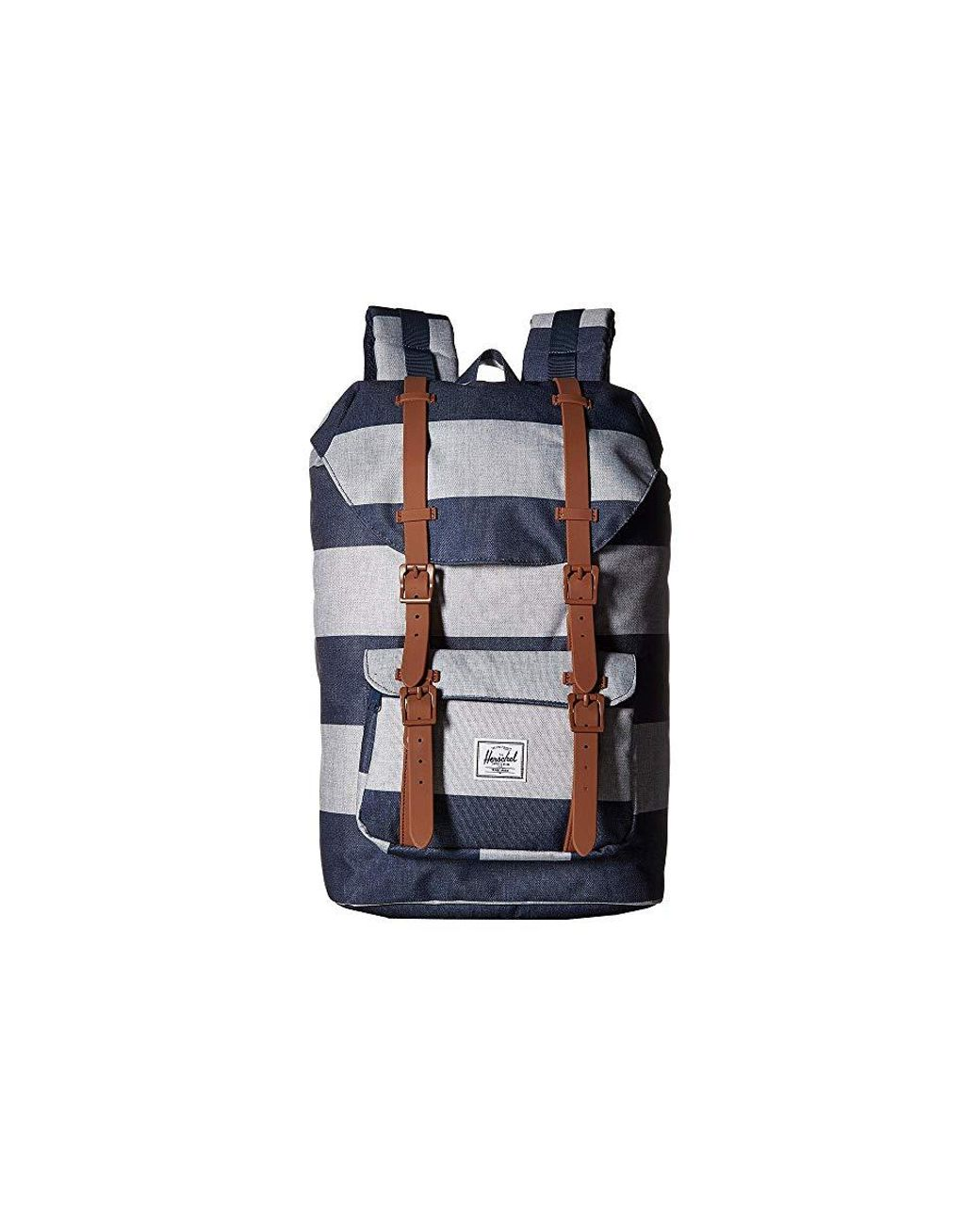 2f3e0a96614 Herschel Supply Co. Little America Mid-volume (border Stripe/saddle Brown)  Backpack Bags in White - Lyst