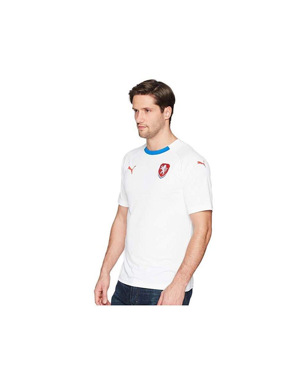 e846f55a35d PUMA Czech Republic Away Replica Shirt ( White/ Royal) Clothing in White  for Men - Save 9% - Lyst