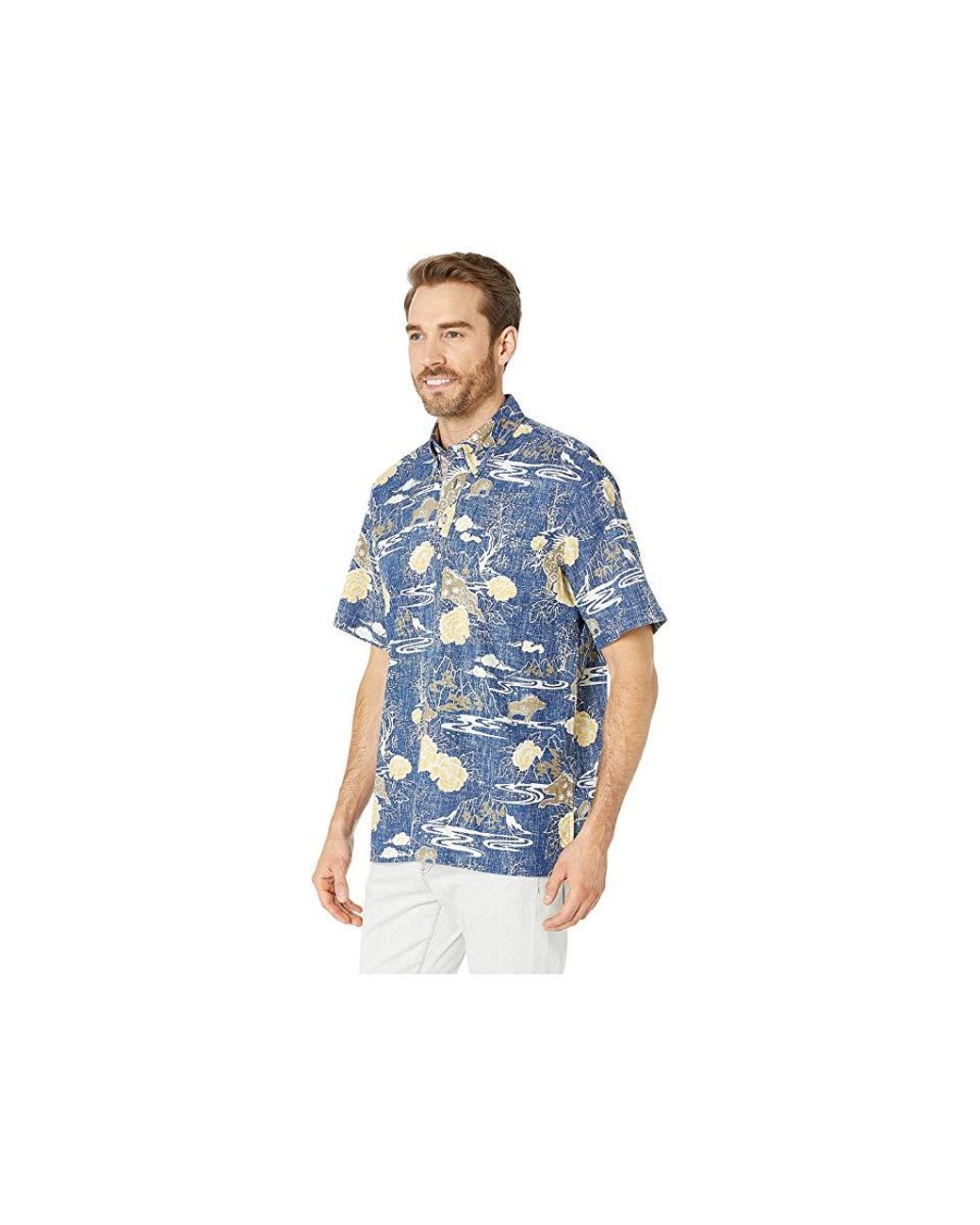 6c8e9071 Reyn Spooner Year Of The Boar Classic Fit Pullover Hawaiian Shirt (medieval  Blue) Short Sleeve Button Up in Blue for Men - Save 30% - Lyst