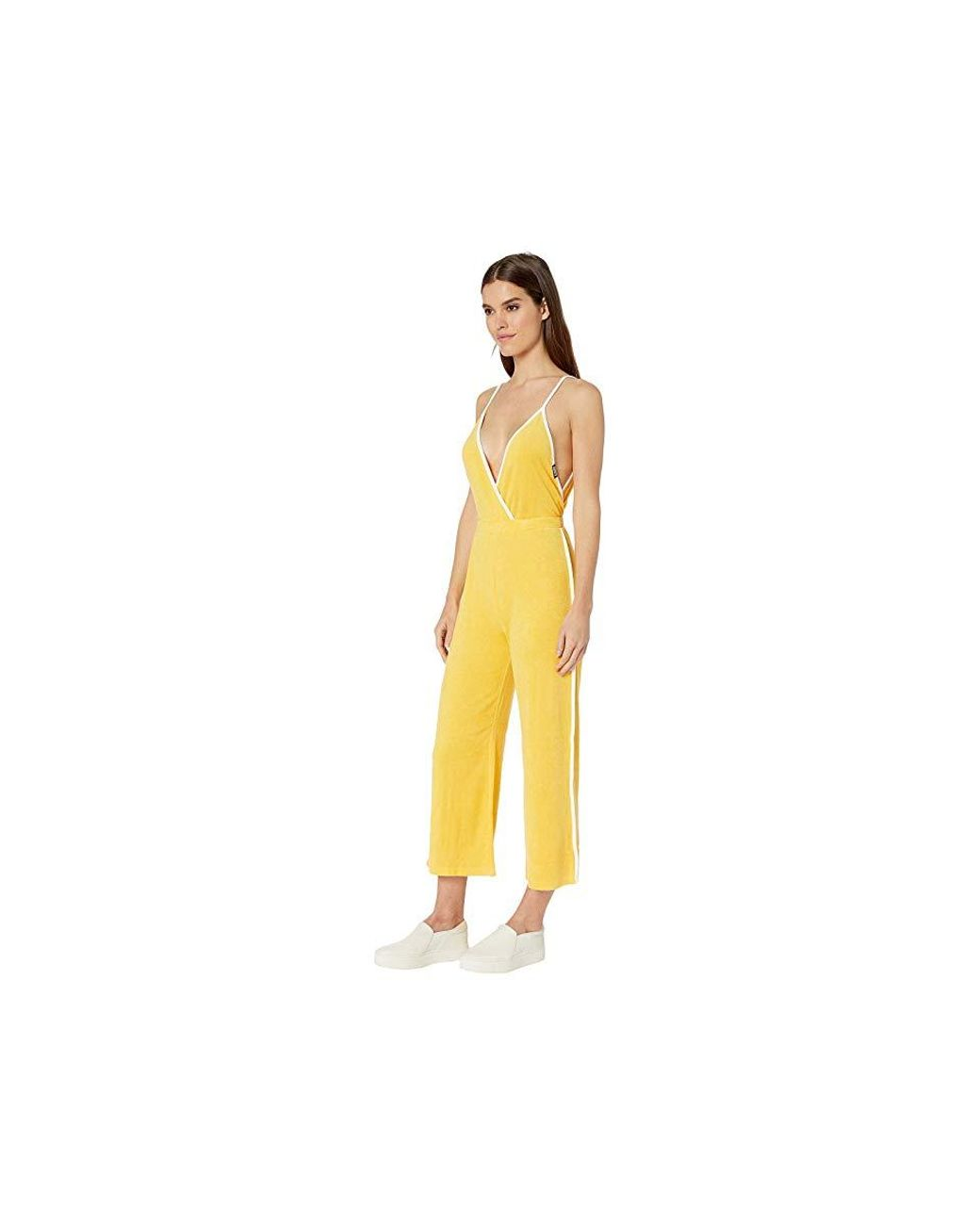 3faa2435de7ec Juicy Couture Juicy Ultra Microterry Jumpsuit (madison Yellow) Jumpsuit &  Rompers One Piece in Yellow - Save 29% - Lyst