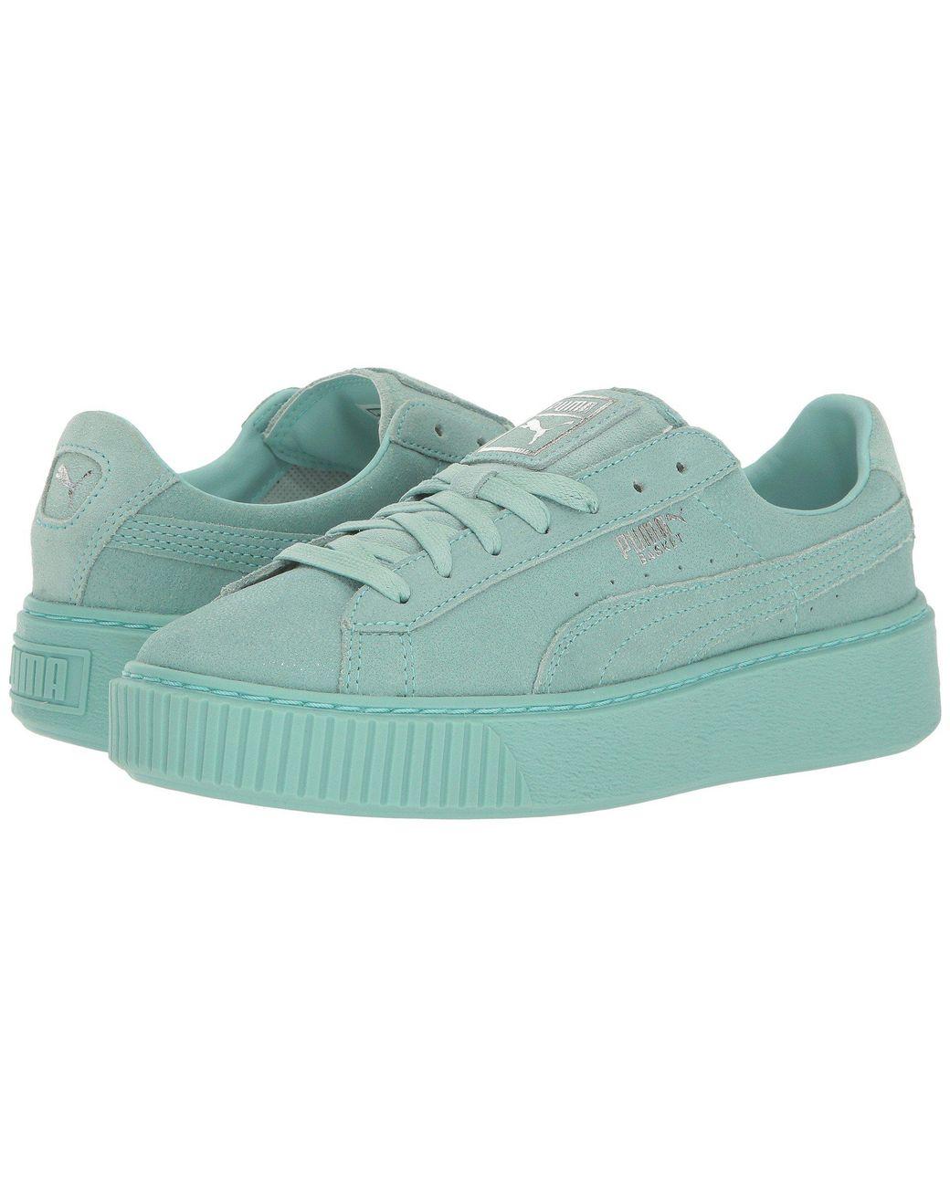 low priced d44e3 6a606 Women's Blue Basket Platform Reset Wn's Fashion Sneaker