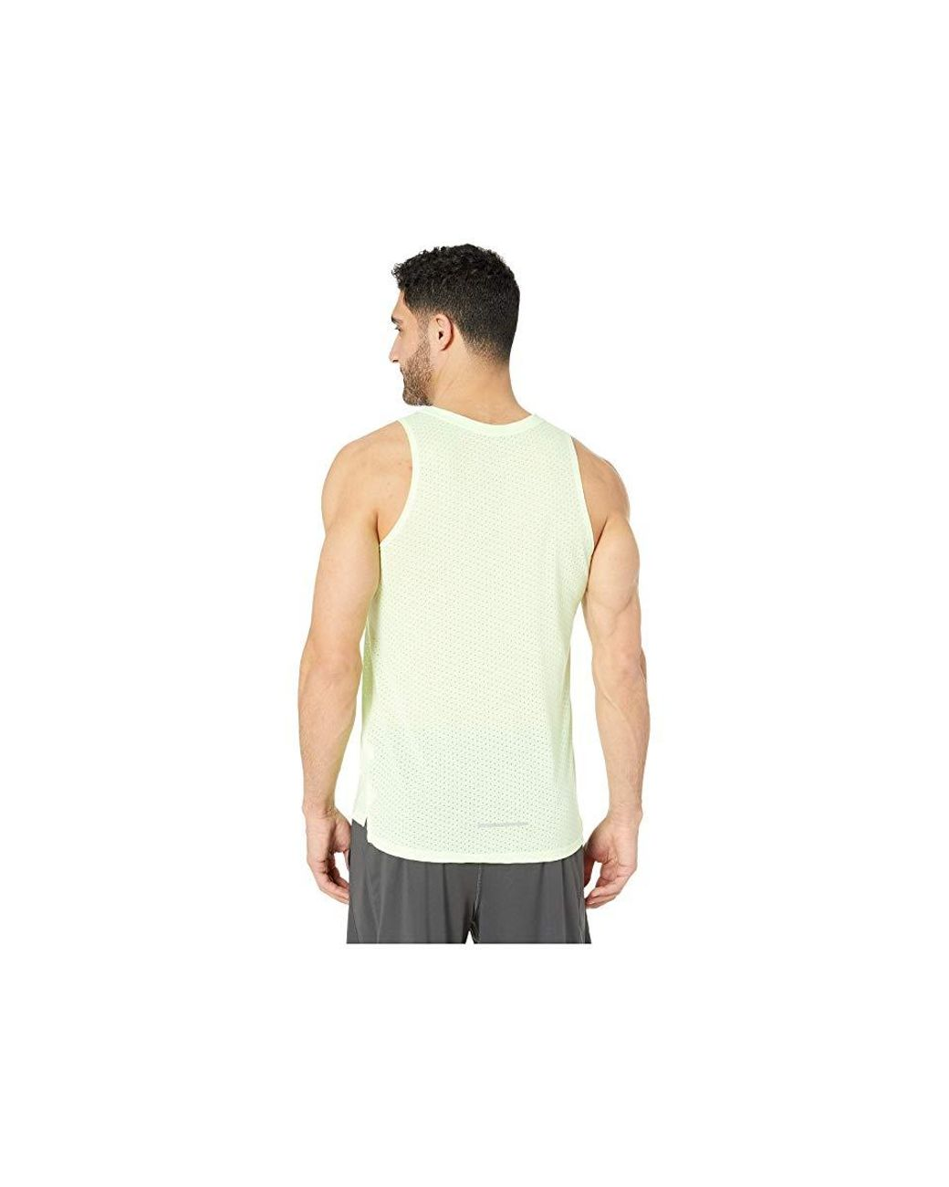 420fb920940 Nike Breath Rise 365 Tank (barely Volt/aviator Grey/reflective ...