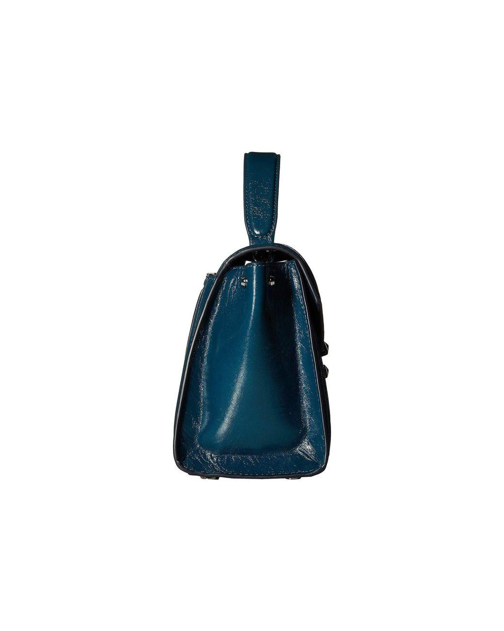 7bce58e3bbd3 Lyst - MICHAEL Michael Kors Whitney Medium Top-handle Satchel in Blue -  Save 36%