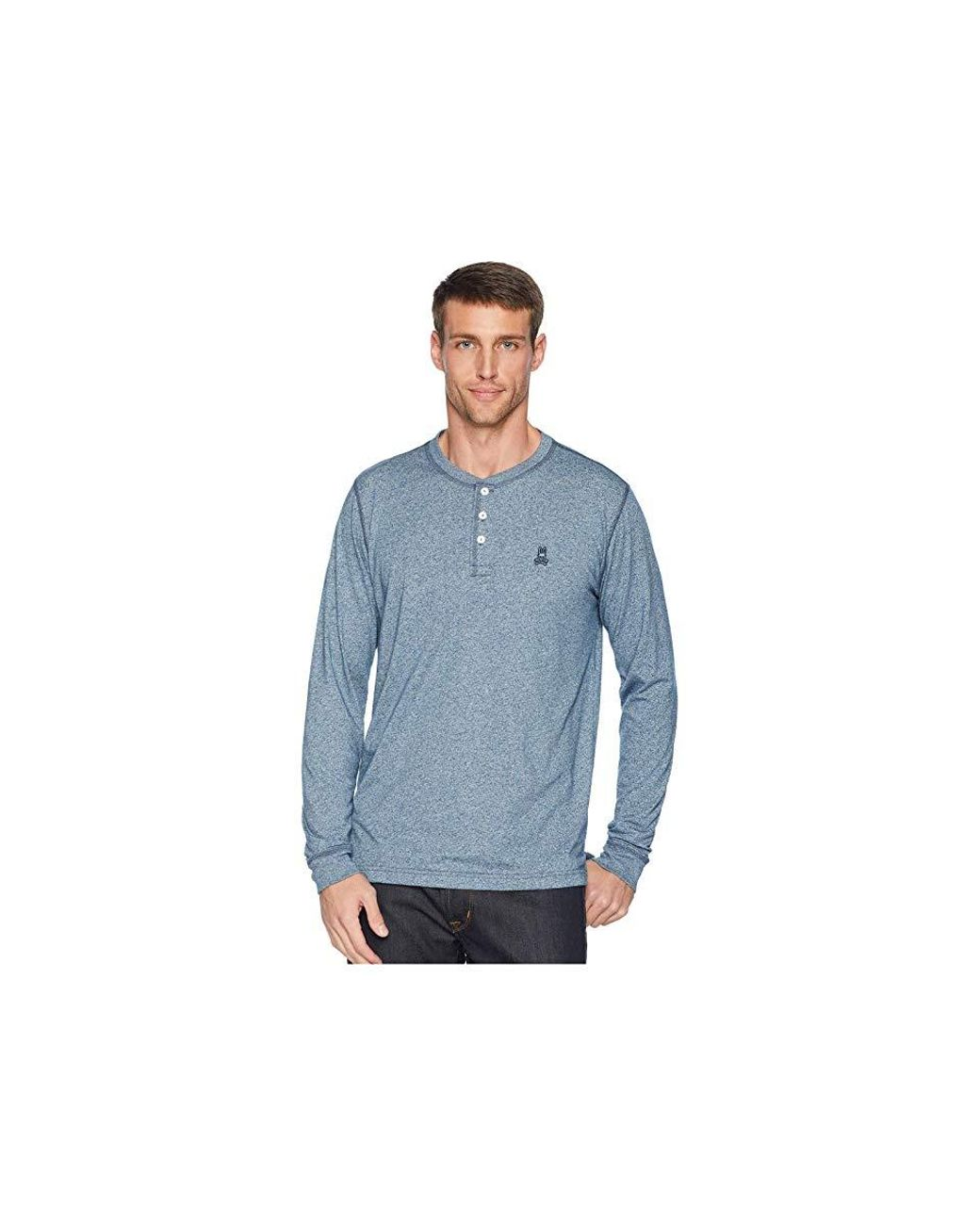 d5f799c2f9 Psycho Bunny Long Sleeve Henley (frenchie Salt Pepper) Clothing in Blue for  Men - Save 38% - Lyst
