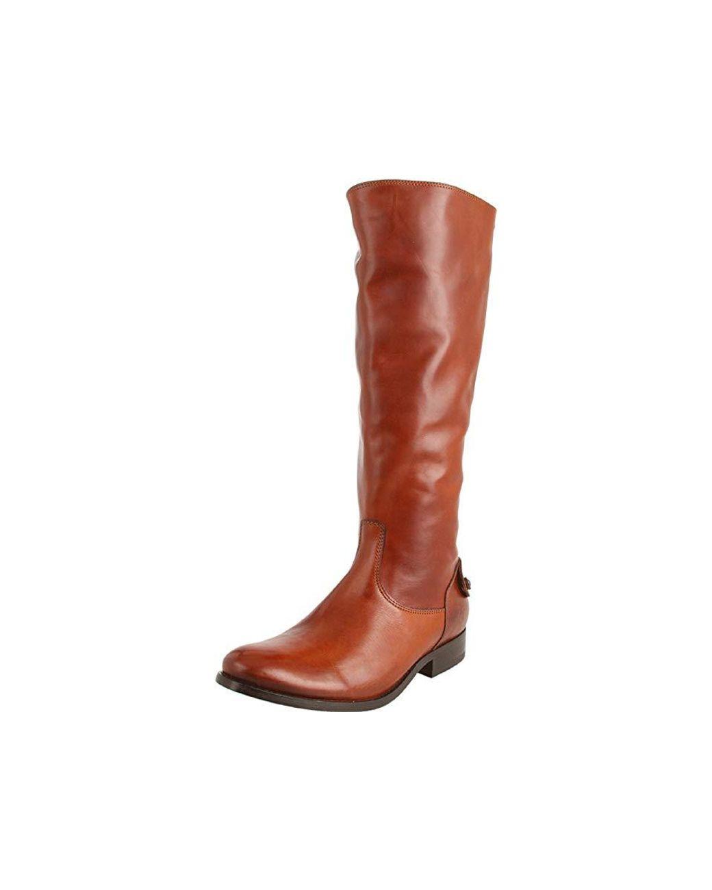 0cb51037f55 Frye Brown Melissa Button Back Zip (cognac) Zip Boots