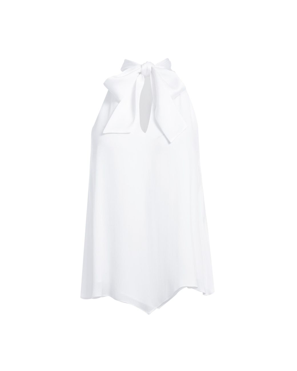 583f621cec8b6c Alice + Olivia Lura Tie Neck Drape Top in White - Lyst