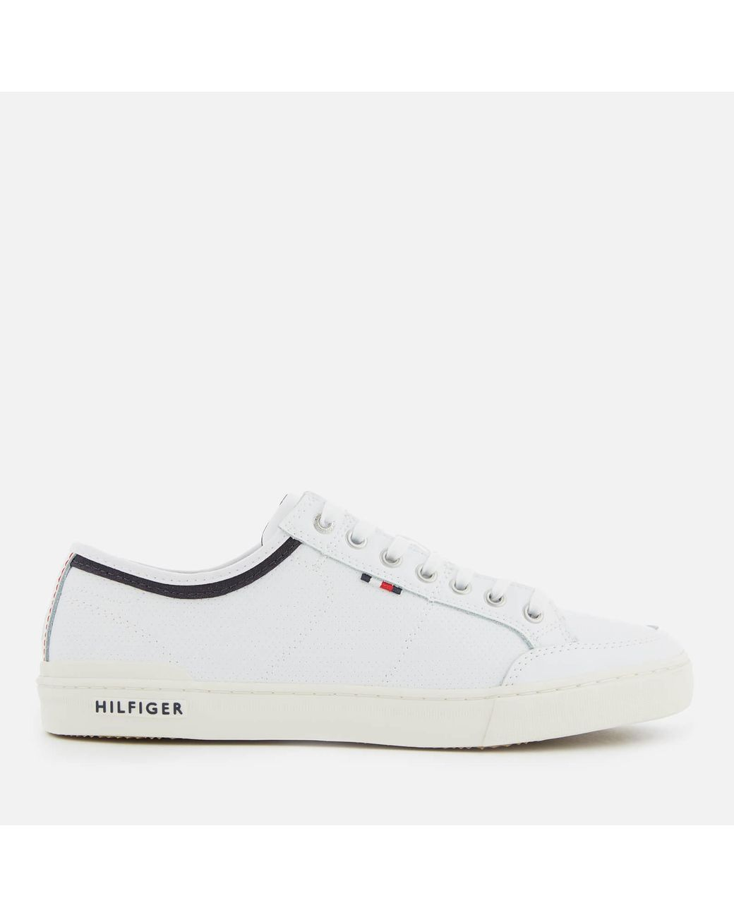4950d6458 Lyst - Tommy Hilfiger Core Leather Low Top Trainers in White for Men ...