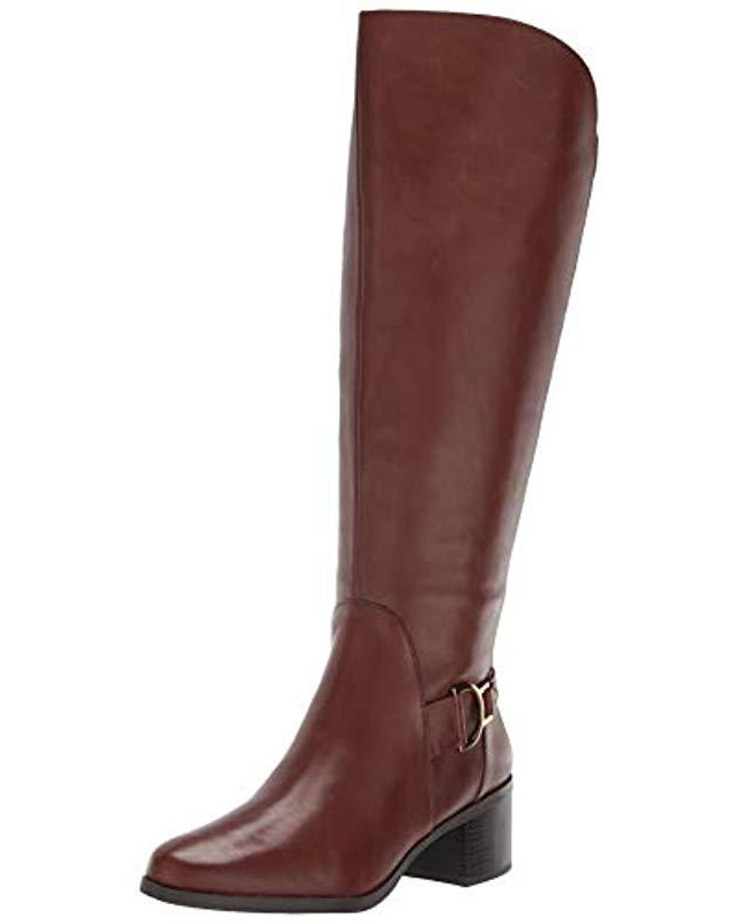 94fd545d5748 Lyst - Anne Klein Jamee Knee High Boot Cognac 9 Medium wide Shaft Us ...