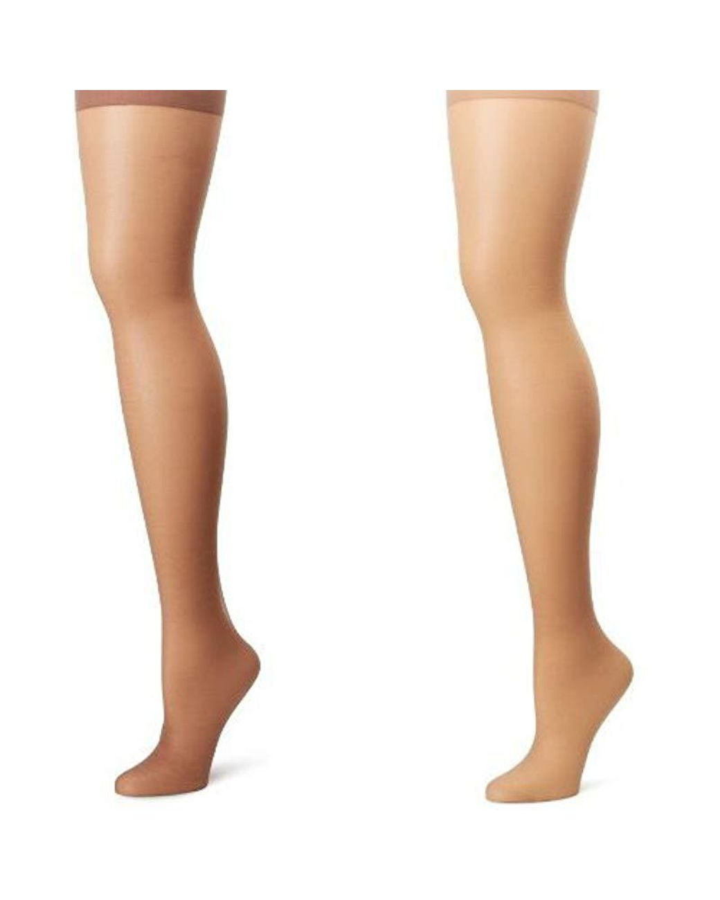 88894dde8e1 Lyst - Hanes Silk Reflections Plus-size Control Top Enhanced Toe Pantyhose  in White