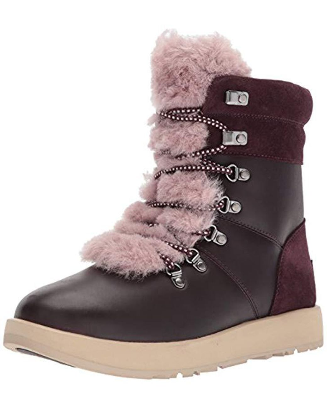 1b8c14febcb9 Lyst - UGG Women s Viki Waterproof Leather Lace Up Boots - Save 10%