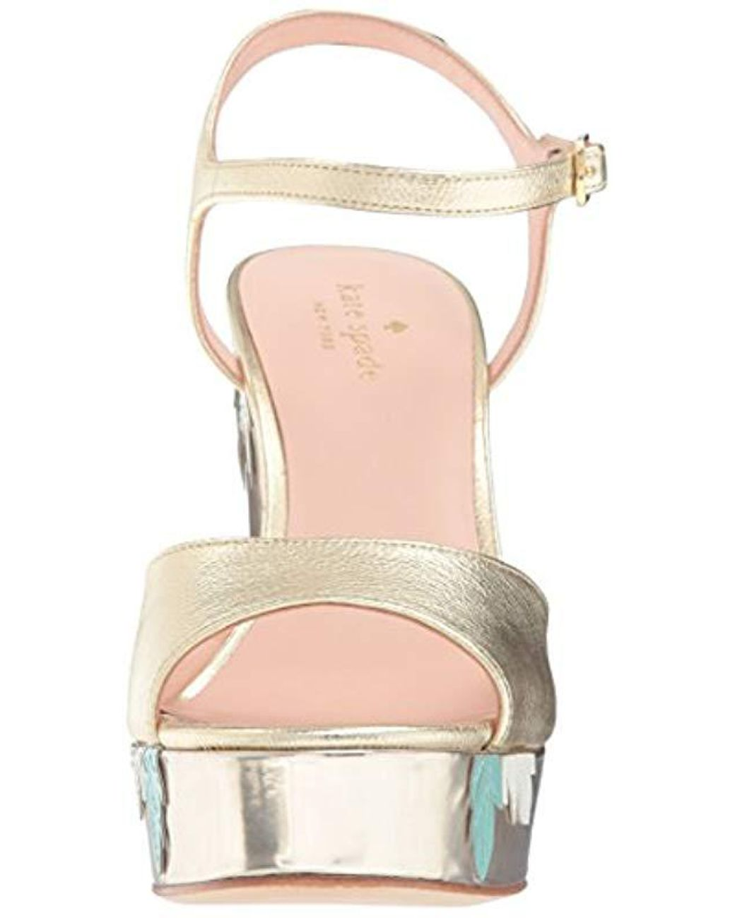 6f8da255de12 Lyst - Kate Spade Darie Wedge Sandal in Metallic - Save 50%