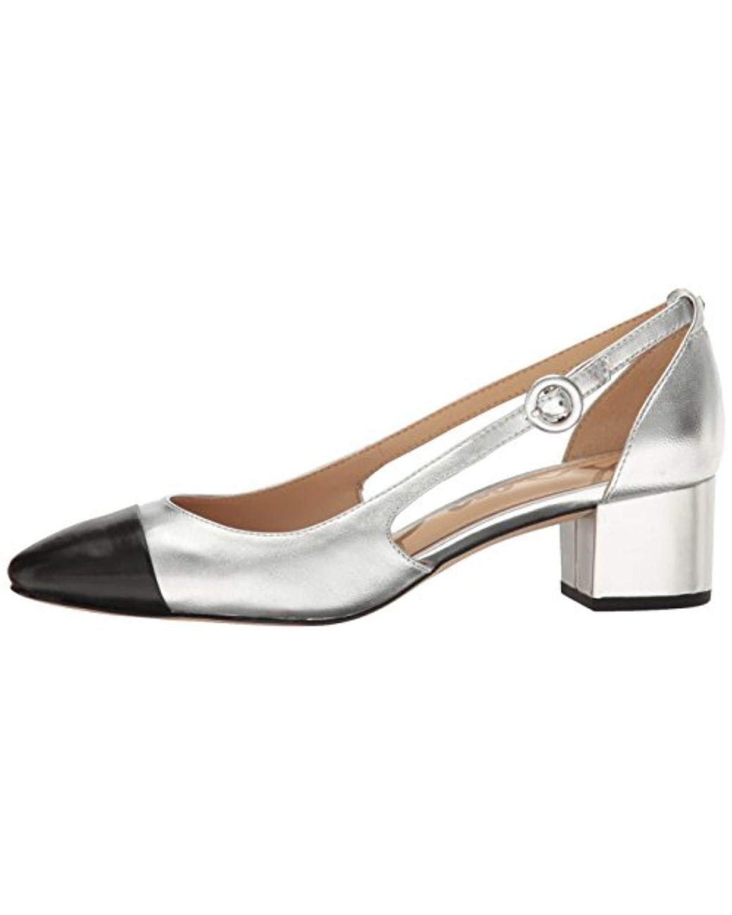 95501f148e5 Lyst - Sam Edelman Leah Cutout Block Heel in Metallic - Save 24%
