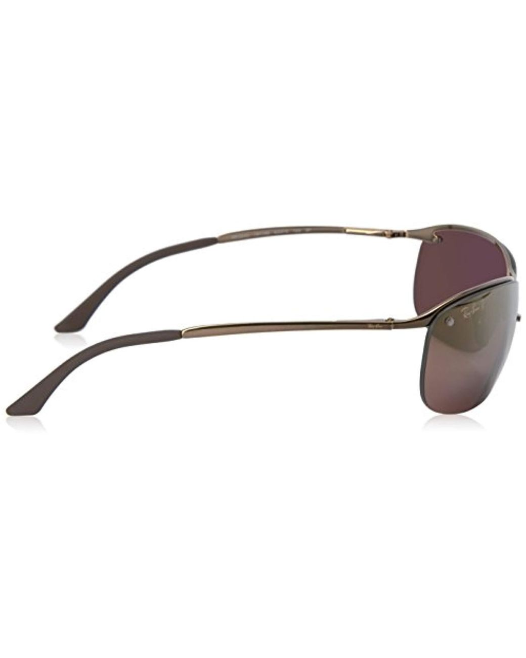adb992a08611d7 Lyst - Ray-Ban Rb3542 Chromance Lens Wrap Sunglasses in Brown - Save 2%