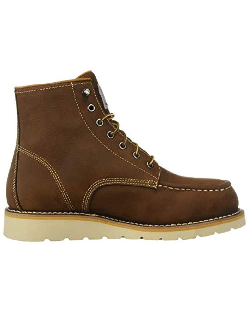 865430975e9 Women's Brown 6 Inch Waterproof Wedge Boot Steel Toe Industrial