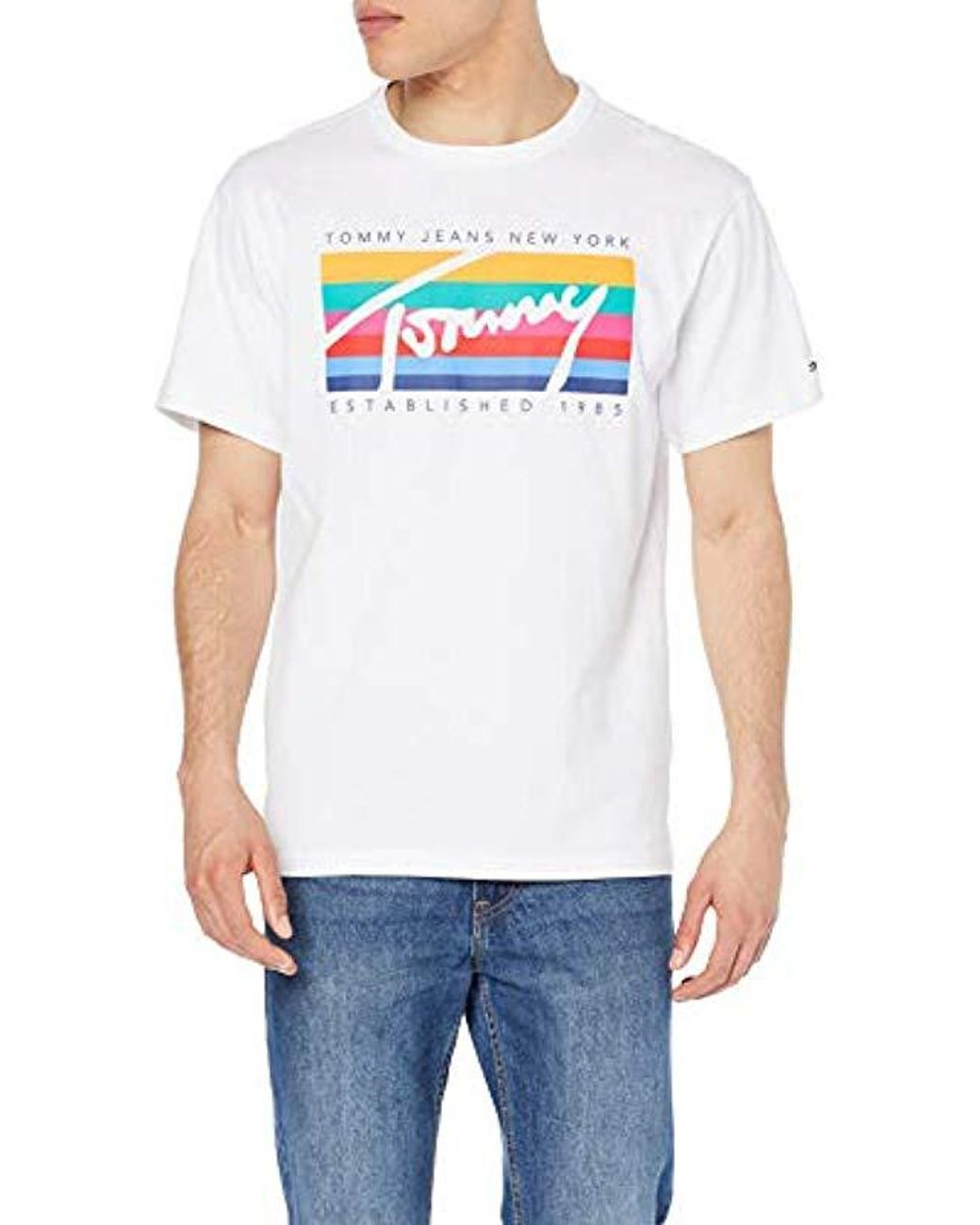 a4ad97e4 Tommy Hilfiger Tjm Tommy Rainbow Box Tee T-shirt in White for Men - Lyst
