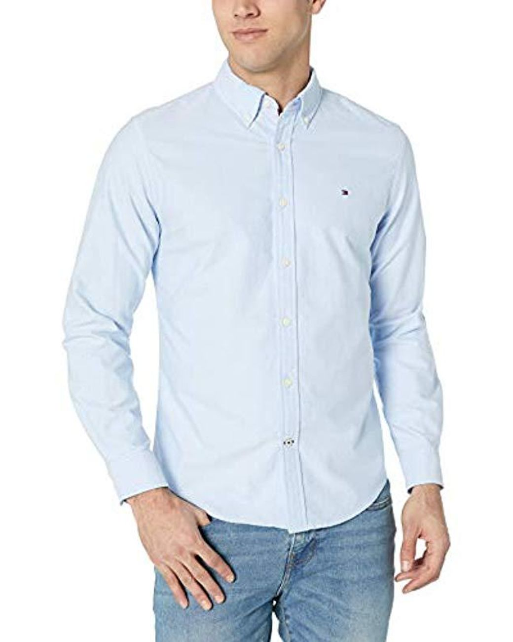 24238786305 Tommy Hilfiger Classic Oxford Button Down Shirt in Blue for Men - Save 8% -  Lyst