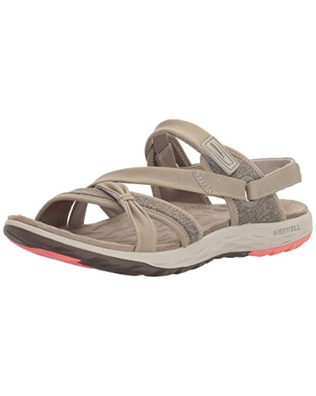 cc63c6d7346a Merrell  s Vesper Lattice Flat Sandals in Gray - Lyst