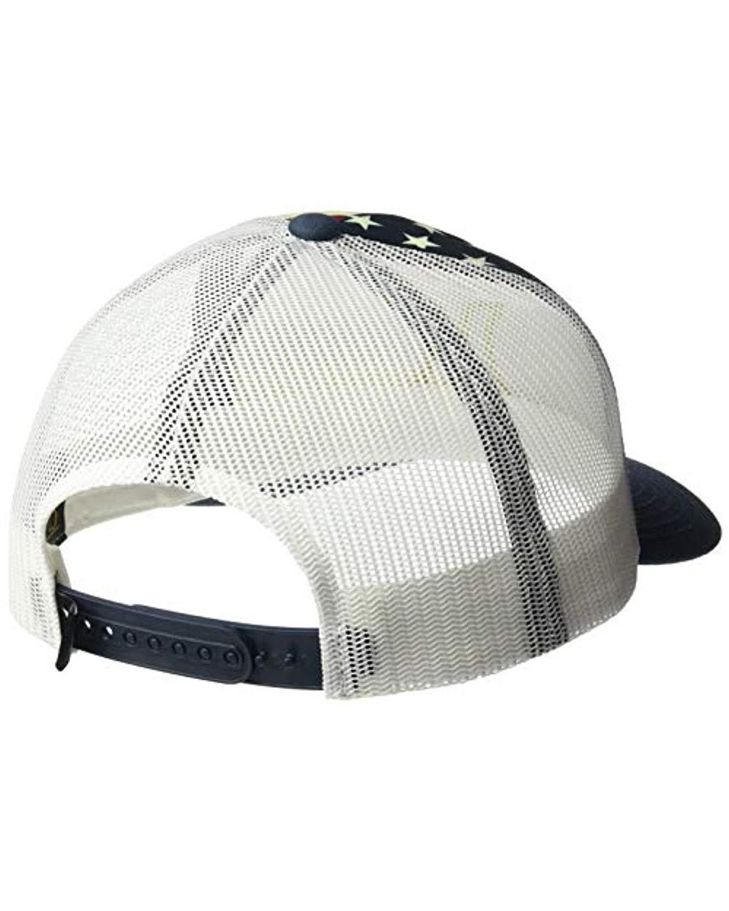 promo code ab435 4e014 Hurley Premium Usa Trucker Hat in White - Save 12% - Lyst
