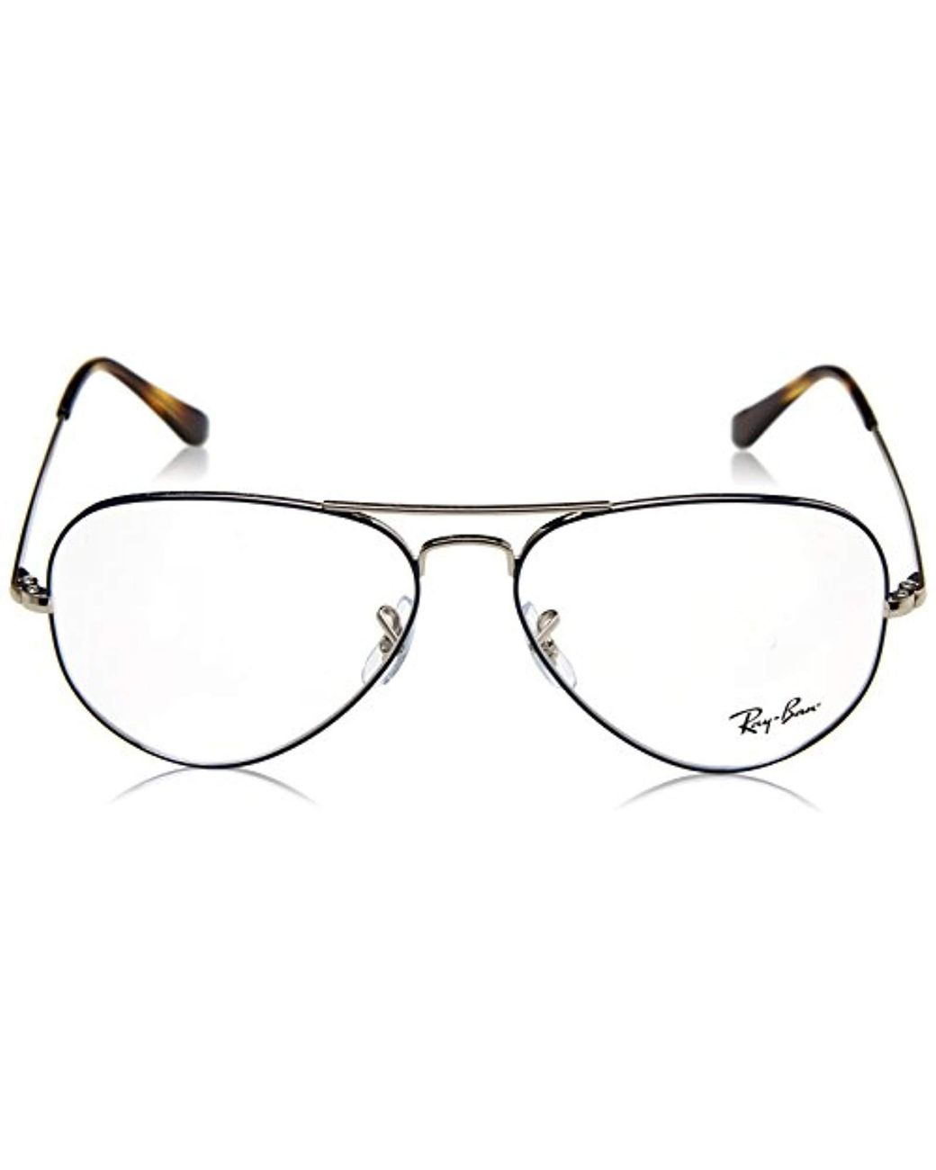 dfd448d09b51 Ray-Ban Rx6489 2970 55 Aviator Glasses In Silver On Blue Rx6489 2970 55 in  Metallic - Save 16% - Lyst