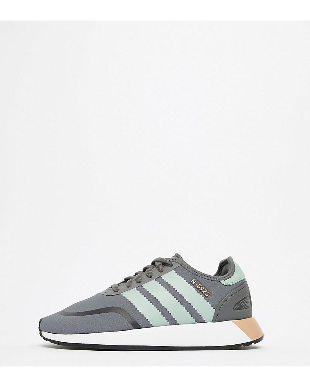 29f8e5fcc5a adidas Originals N-5923 Runner Trainers In Grey And Mint in Gray - Lyst