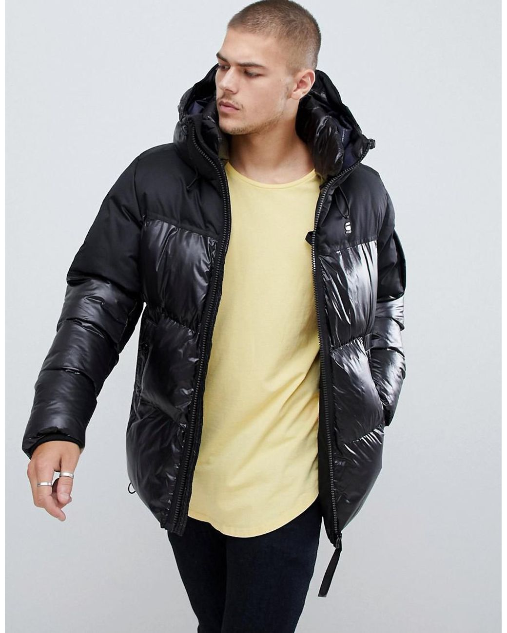 8d70a5e6c8c87 G-Star RAW Whistler Hooded Quilted Jacket In Black in Black for Men - Lyst
