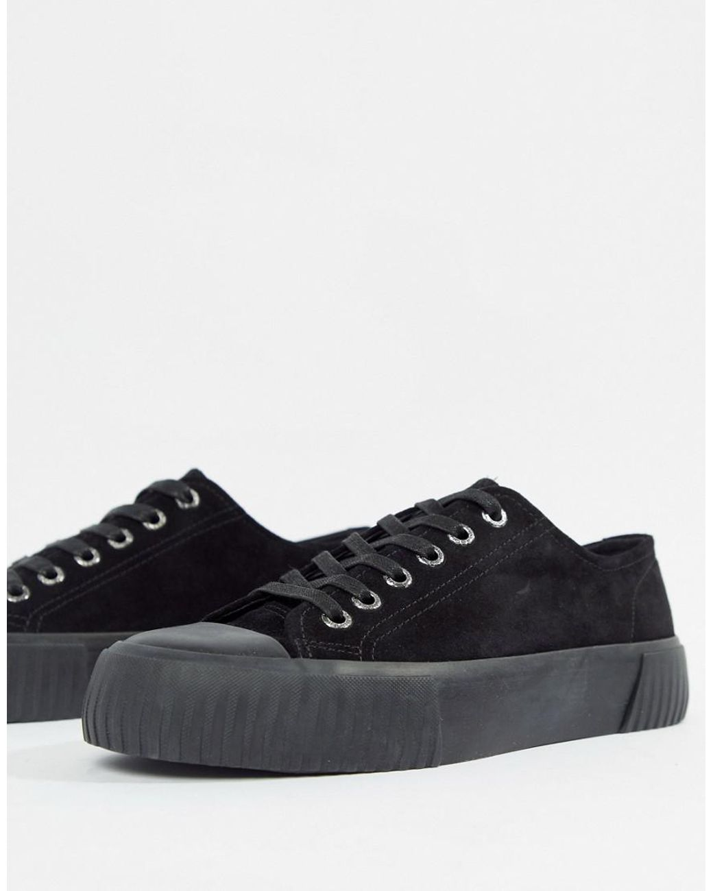 19837f91f8c154 Vagabond Ashley Suede Flatform Sneaker in Black - Lyst