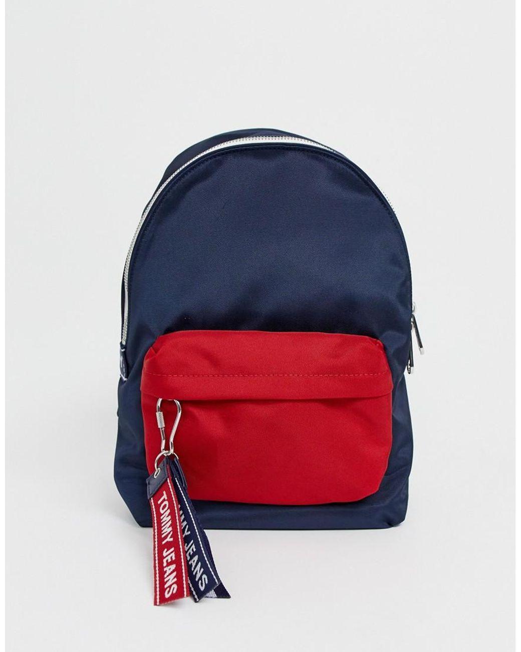 d0b59b28d Tommy Hilfiger Tj Small Logo Tape Denim Backpack in Blue - Save 25% - Lyst