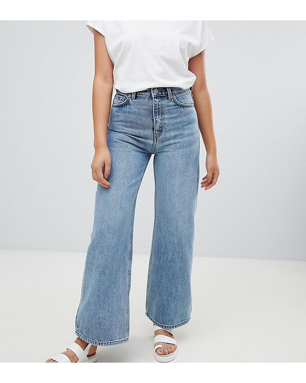 coupon code beautiful design favorable price Women's Ace Wide Leg Jeans With Organic Cotton In Blue