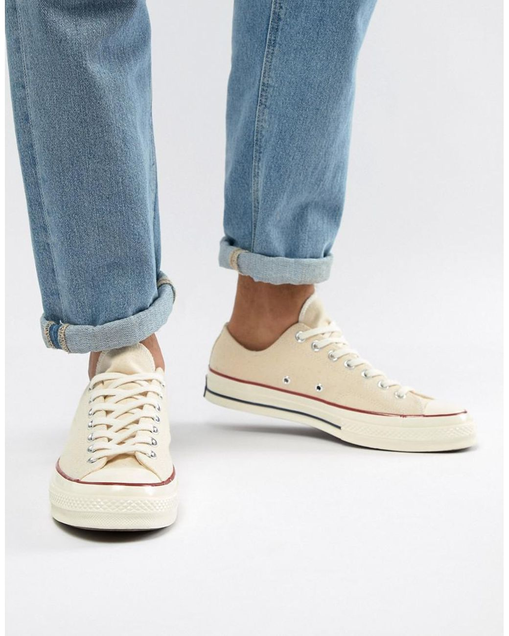 ab367755f823 Long-Touch to Zoom. Long-Touch to Zoom. 1  2. Converse - White Chuck Taylor  All Star  70 Ox Trainers In Parchment ...