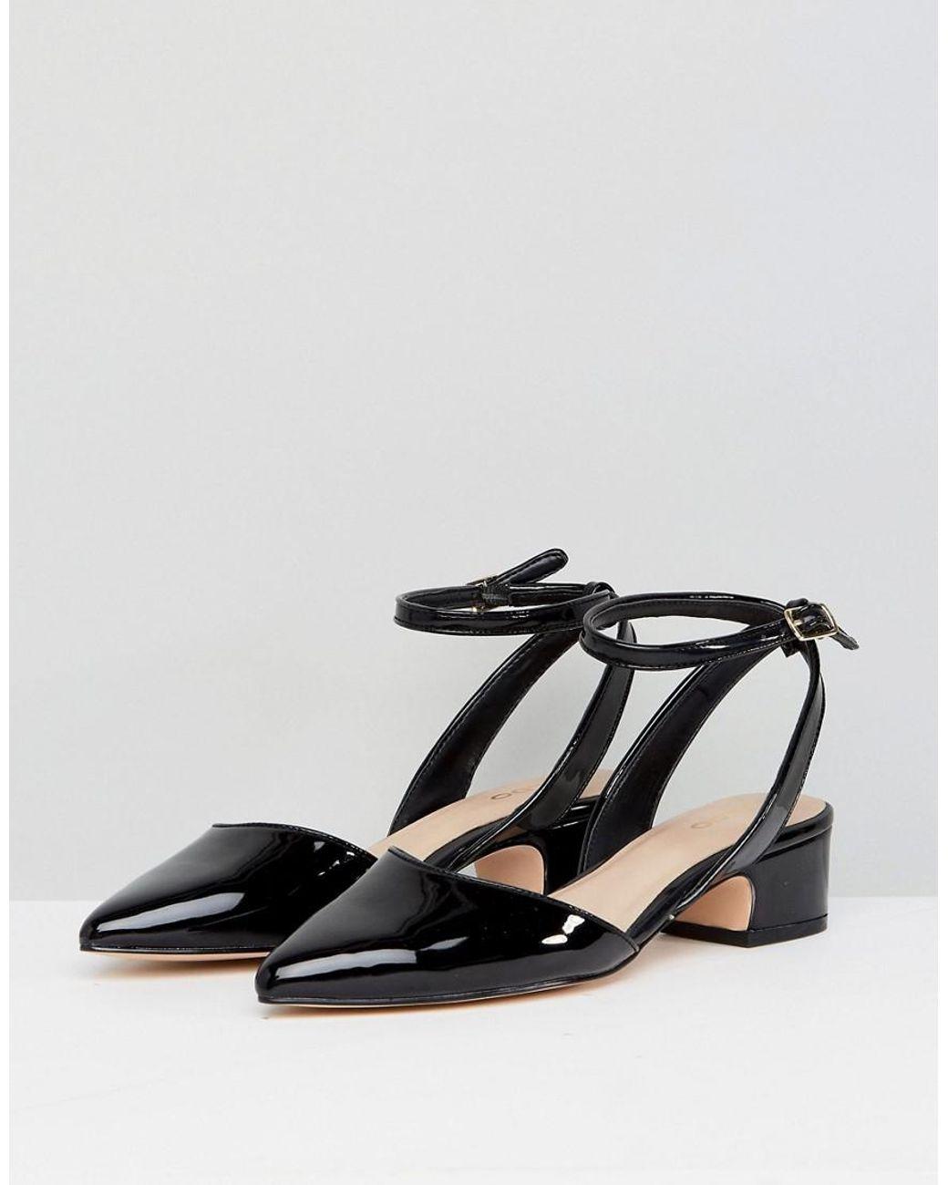 00387ca1cb9 Lyst - ALDO Zewiel Low Heel Pointed Shoe In Black in Black