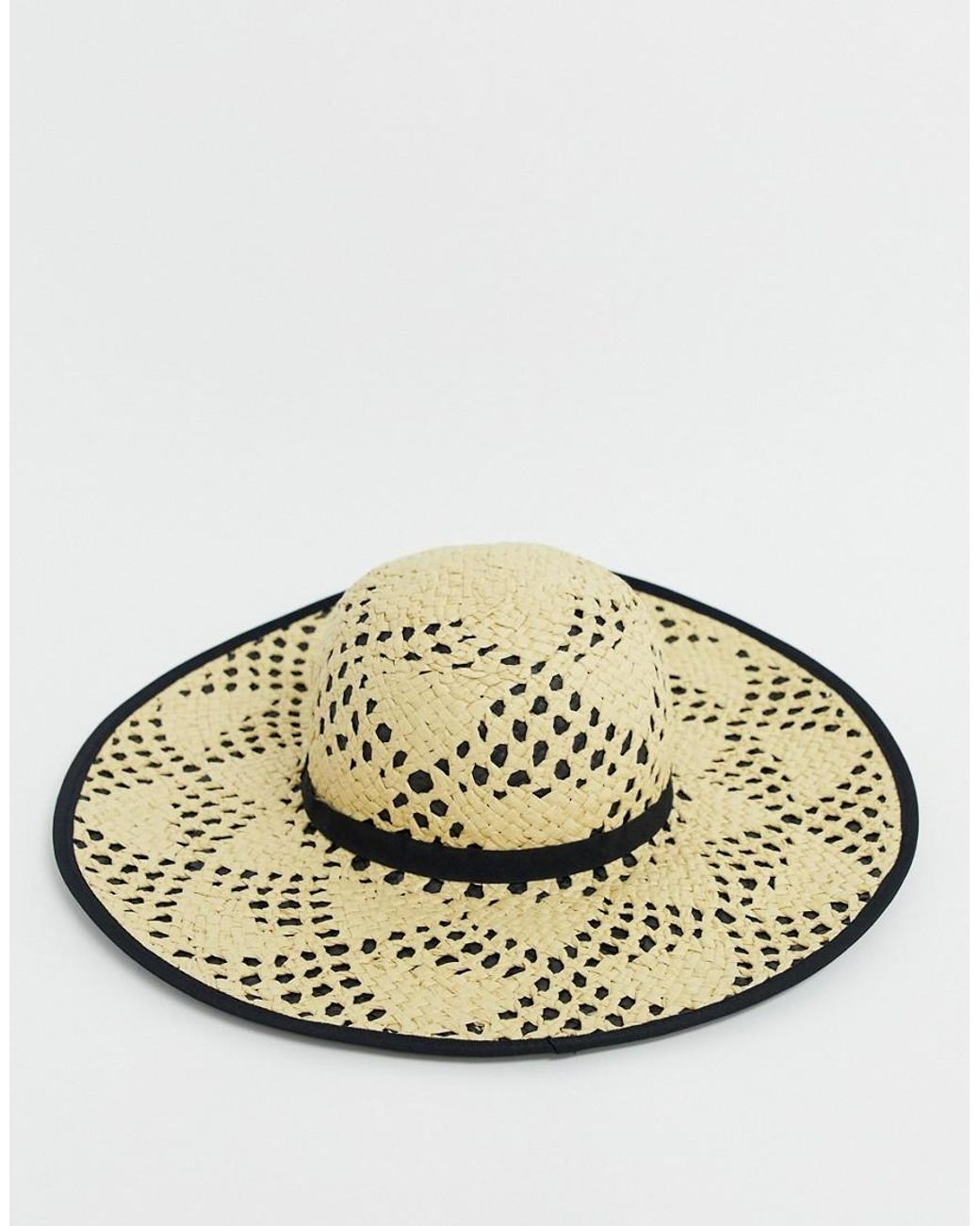 71739486a2324 Miss Selfridge Sun Hat With Contrast Underlay In Nude in Natural - Lyst