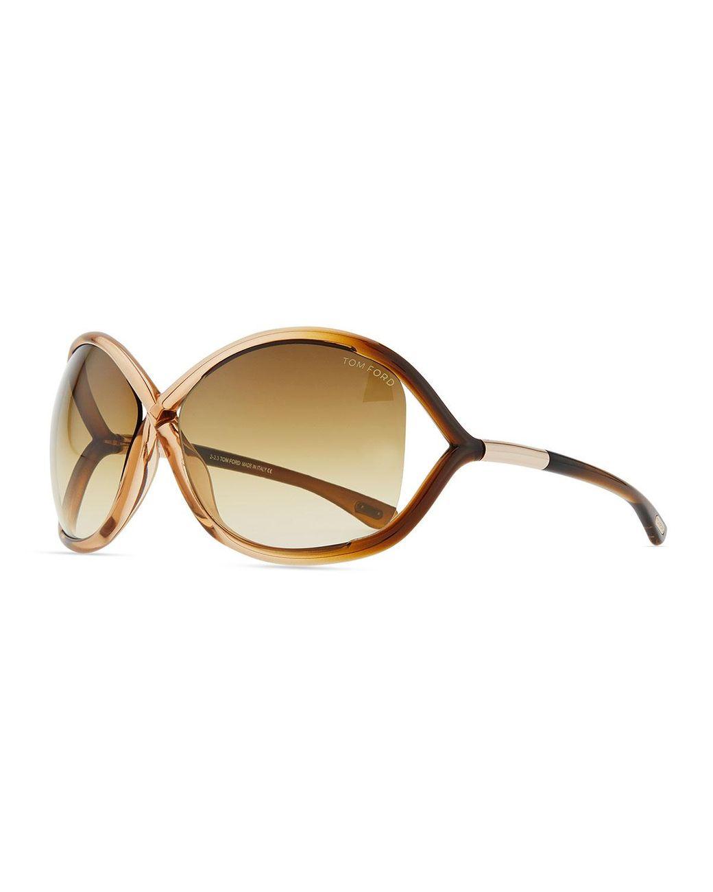 5873cc0e10f Lyst - Tom Ford Whitney Cross-bridge Sunglasses in Pink - Save 2%