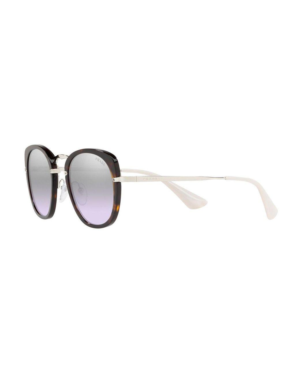 2a672b53f6ec8 Prada Mirrored Metal Butterfly Sunglasses - Lyst