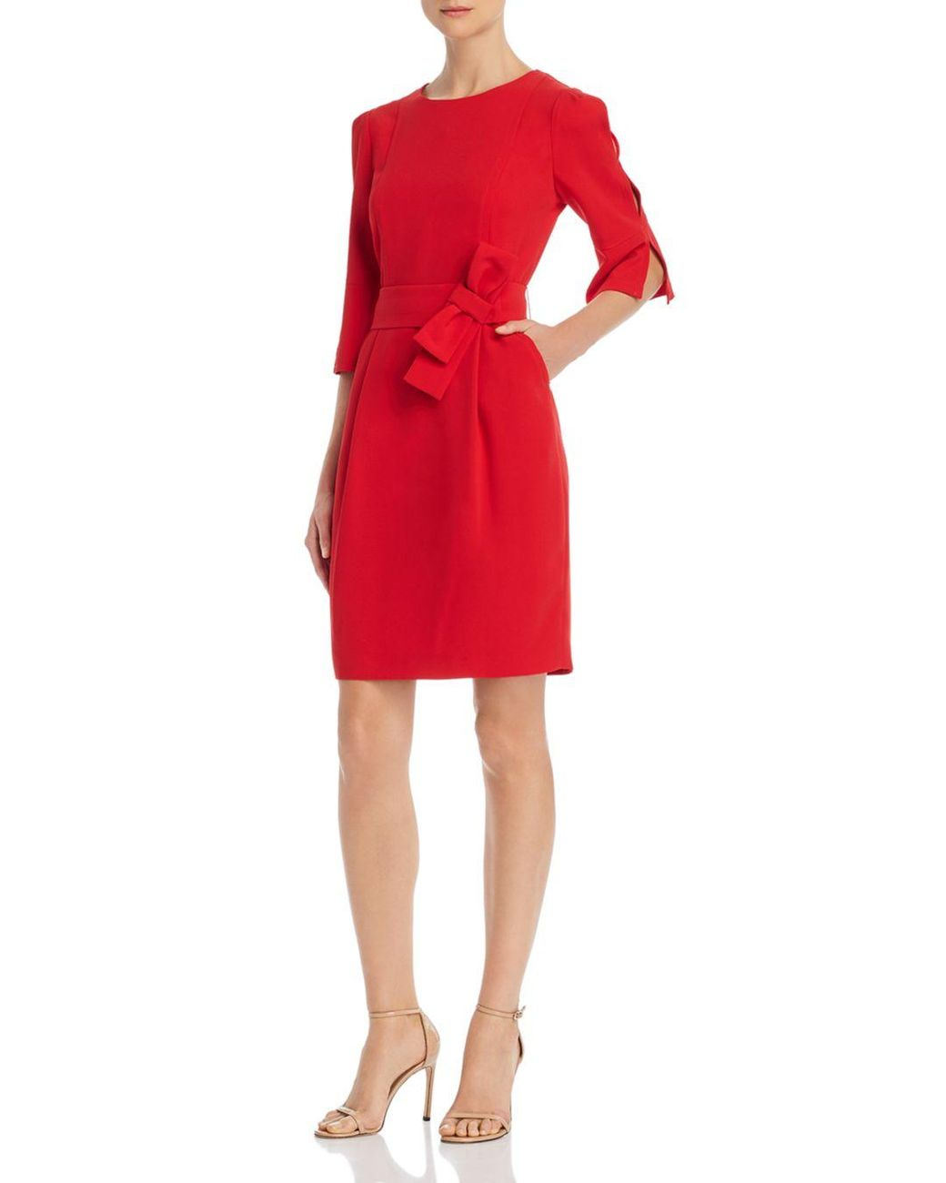 d516eb6c592 Marella Katana Belted Bow - Detail Dress in Red - Lyst