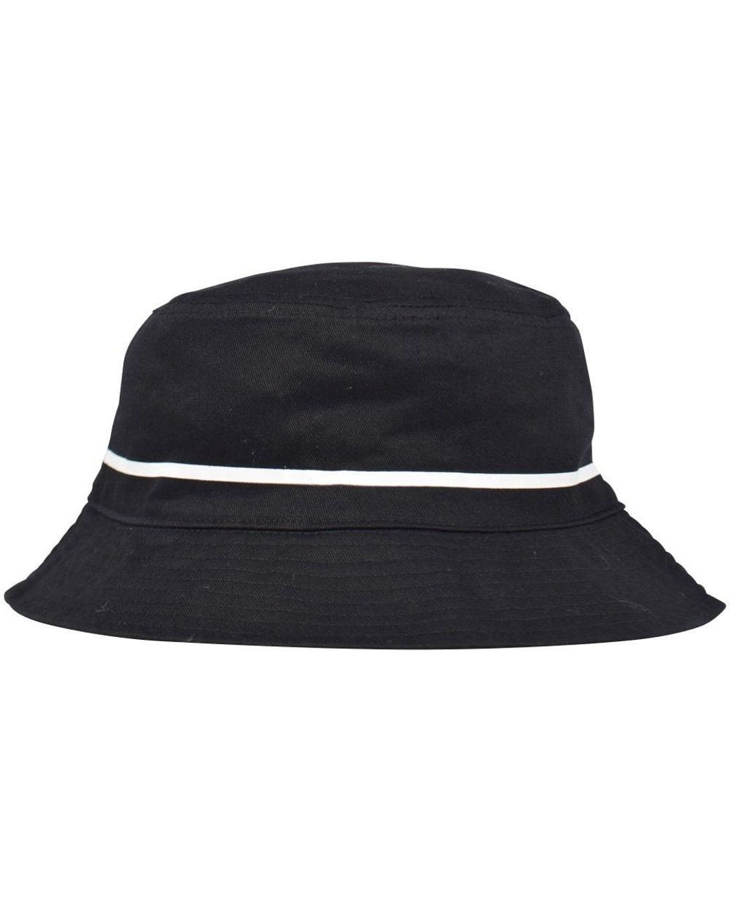 85f82d7e1ca5a3 Kappa Black/white Authentic Bucket Hat in Black for Men - Lyst