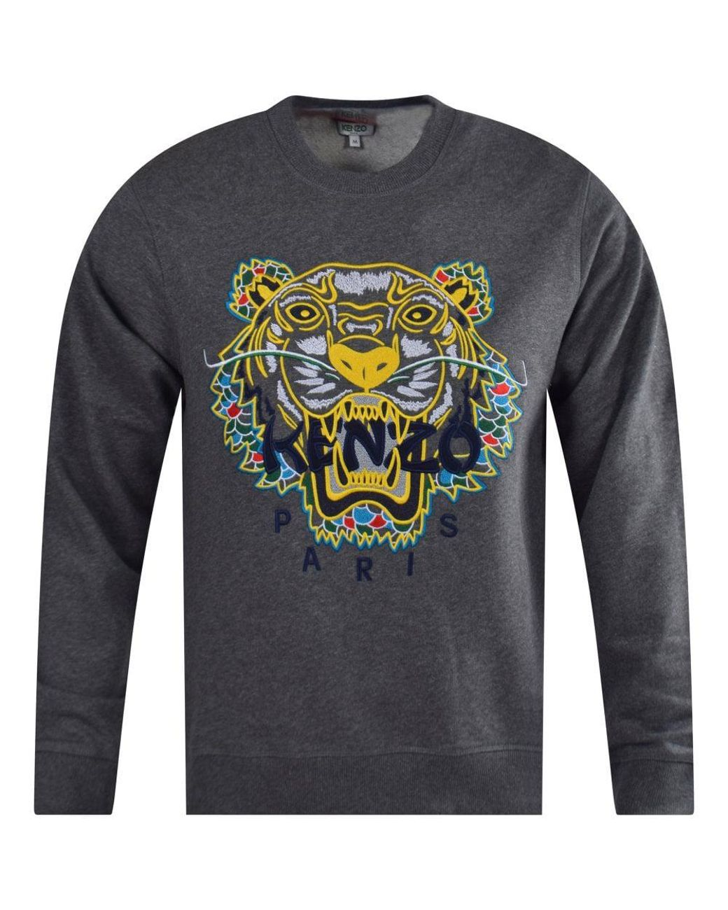 3a1c118859 KENZO Dark Grey Dragon Tiger Sweatshirt in Gray for Men - Lyst