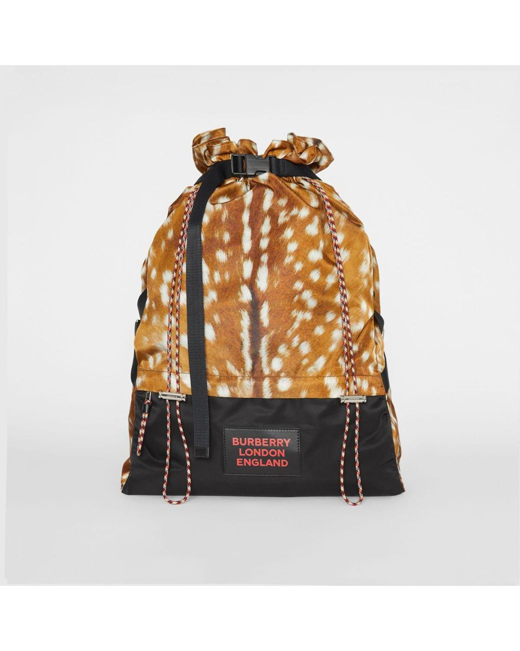 0cb1d7340c7a Lyst - Burberry Animal Print Drawstring Backpack for Men