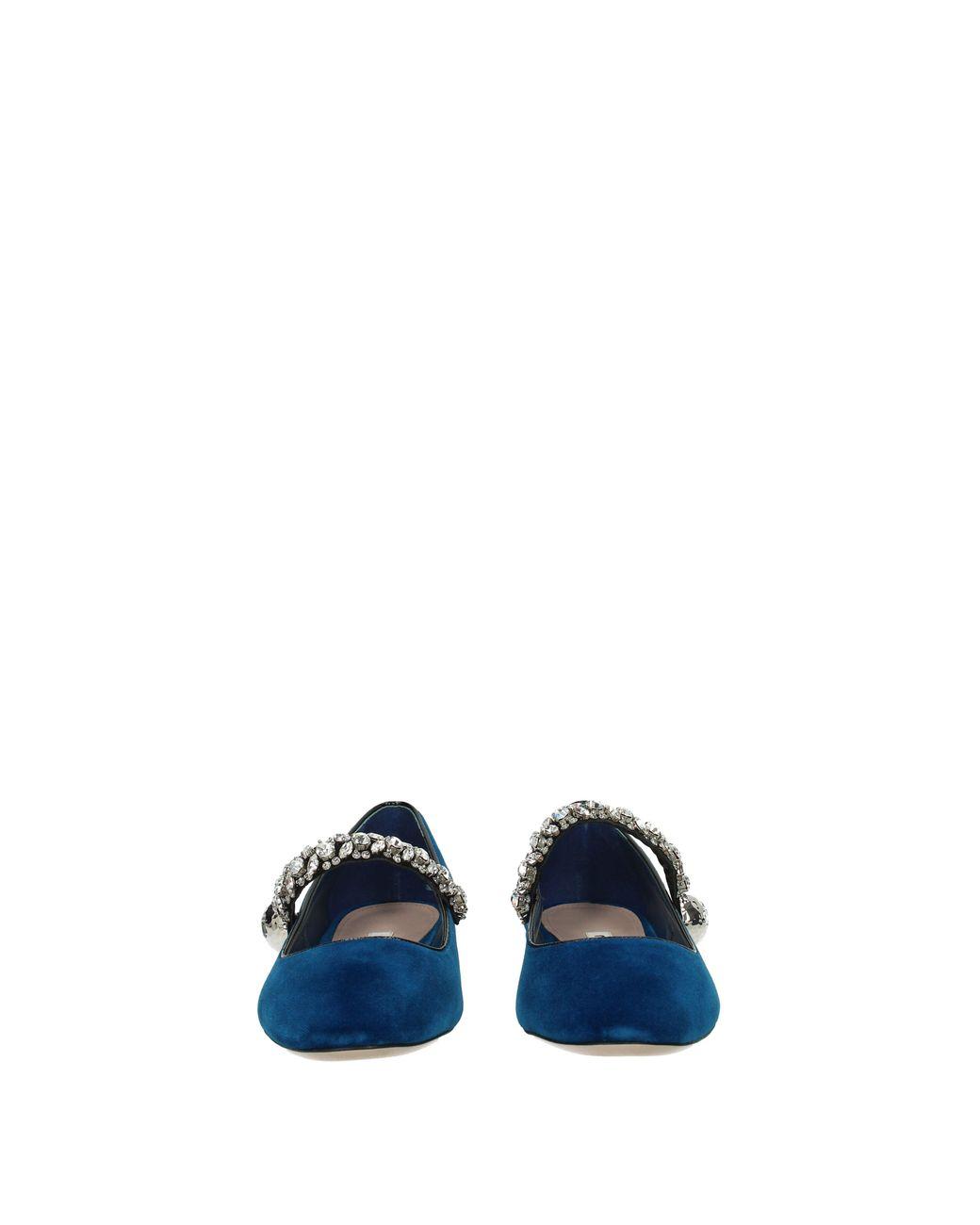 c72770d8ae3 Lyst - Miu Miu Ballet Flats Women Blue in Blue