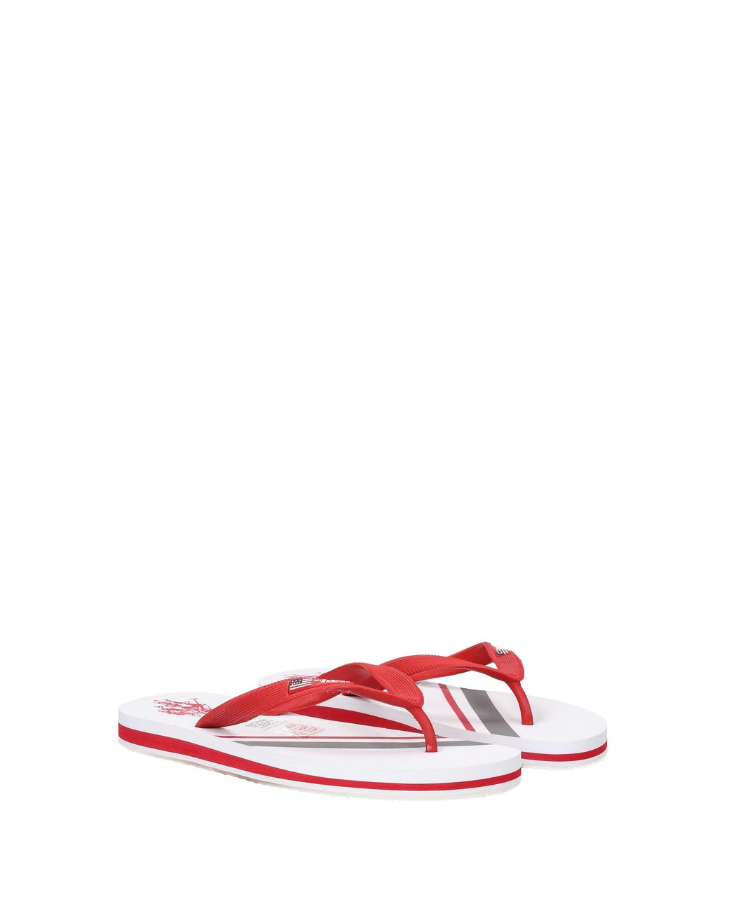 c6f55cc022b9 Lyst - U.S. POLO ASSN. Flip Flops Men Red in Red for Men