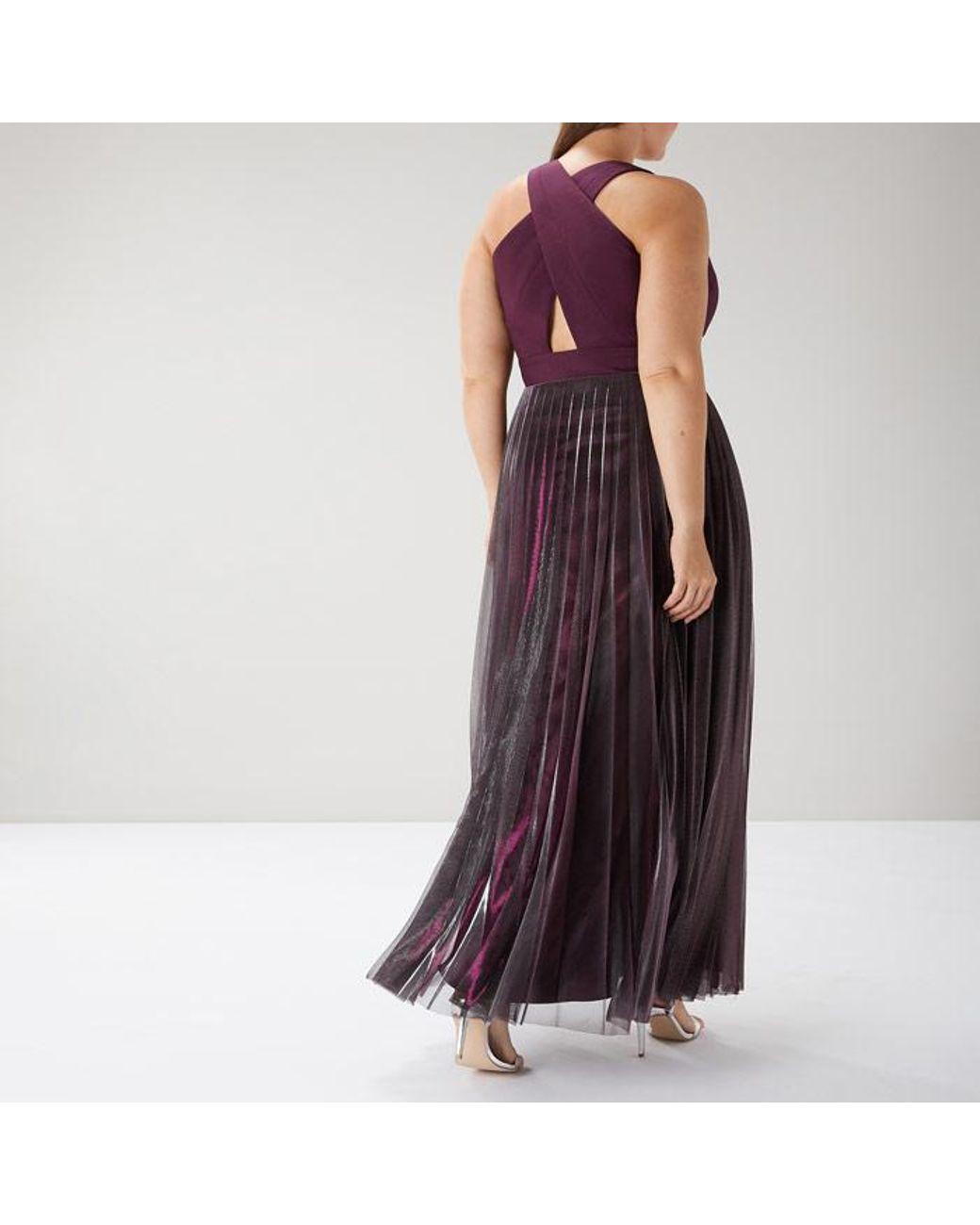 5c9b80255c Coast Violetta Pleated Maxi Dress Cc - Lyst