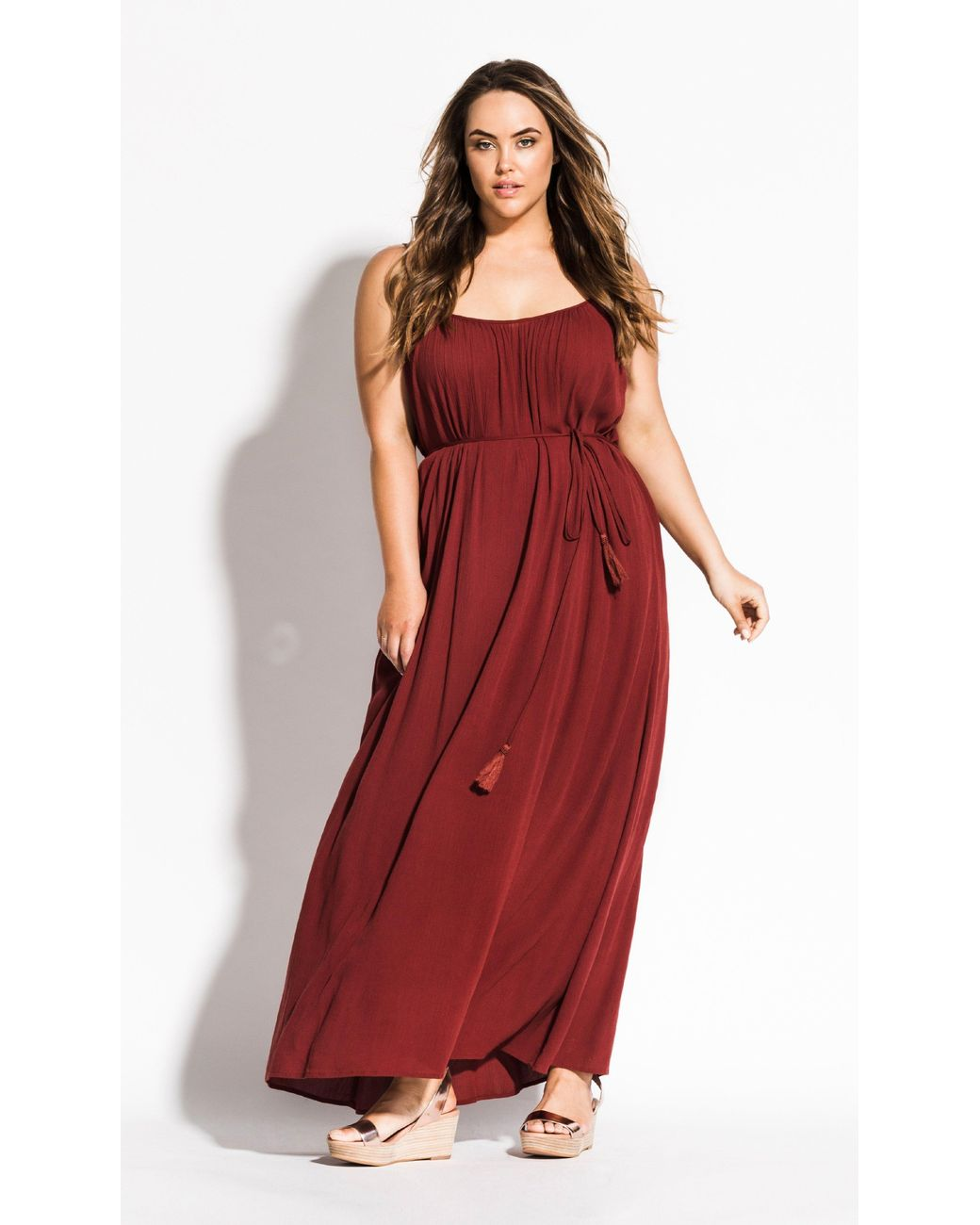 1ed8b8a880 Lyst - City Chic Paradise Maxi Dress in Red