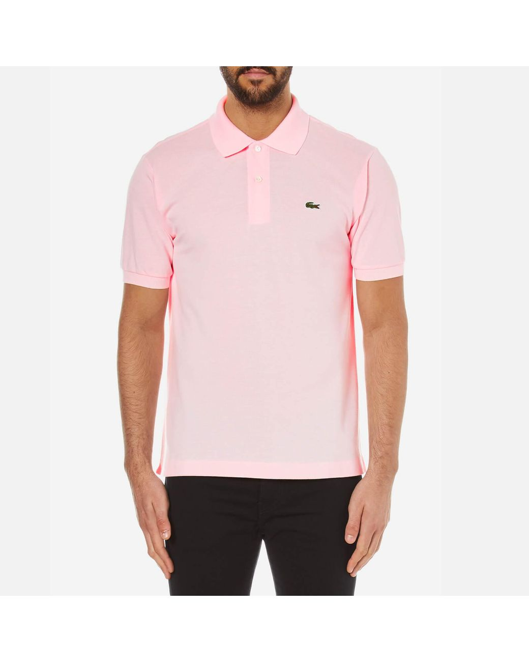 3ff743555c6 Lacoste Polo Shirt in Pink for Men - Save 15% - Lyst