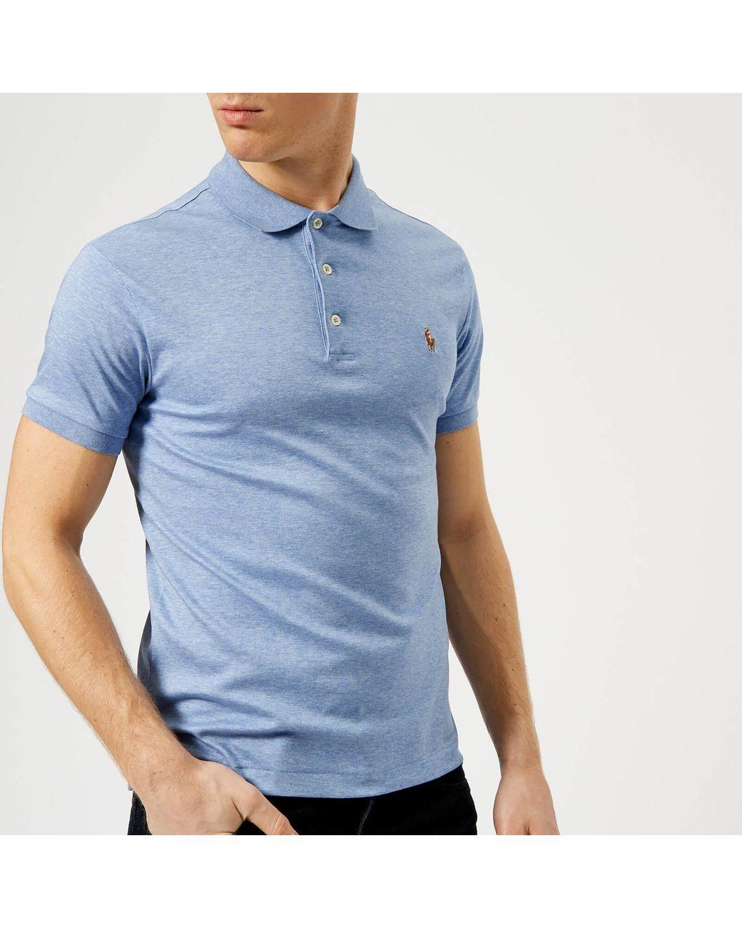 0135a8f0 Polo Ralph Lauren Pima Polo Shirt in Blue for Men - Lyst