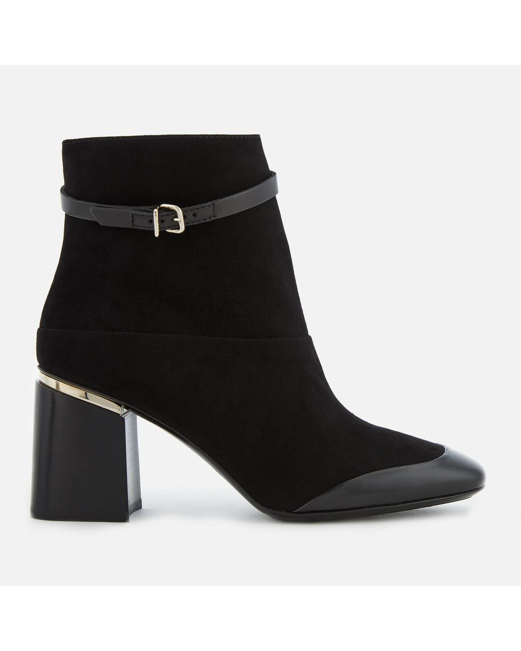 bfa75ff0e4 Tod's Block Heeled Ankle Boots in Black - Lyst