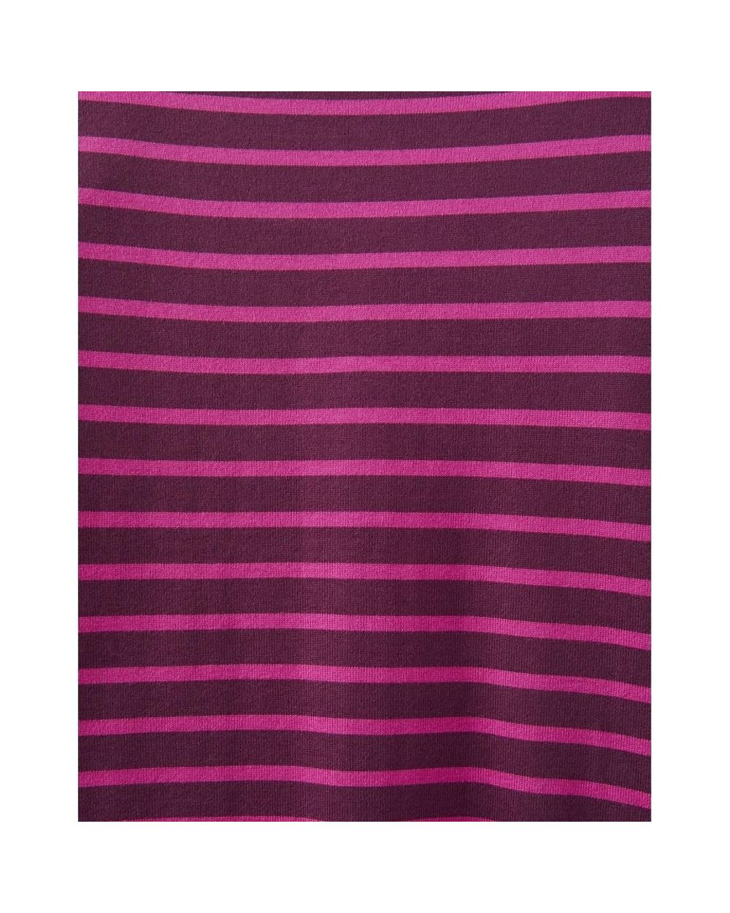 0cf2ac163a0 Joules Riviera 3/4 Sleeve Striped Womens Dress (z) in Purple - Save 32% -  Lyst