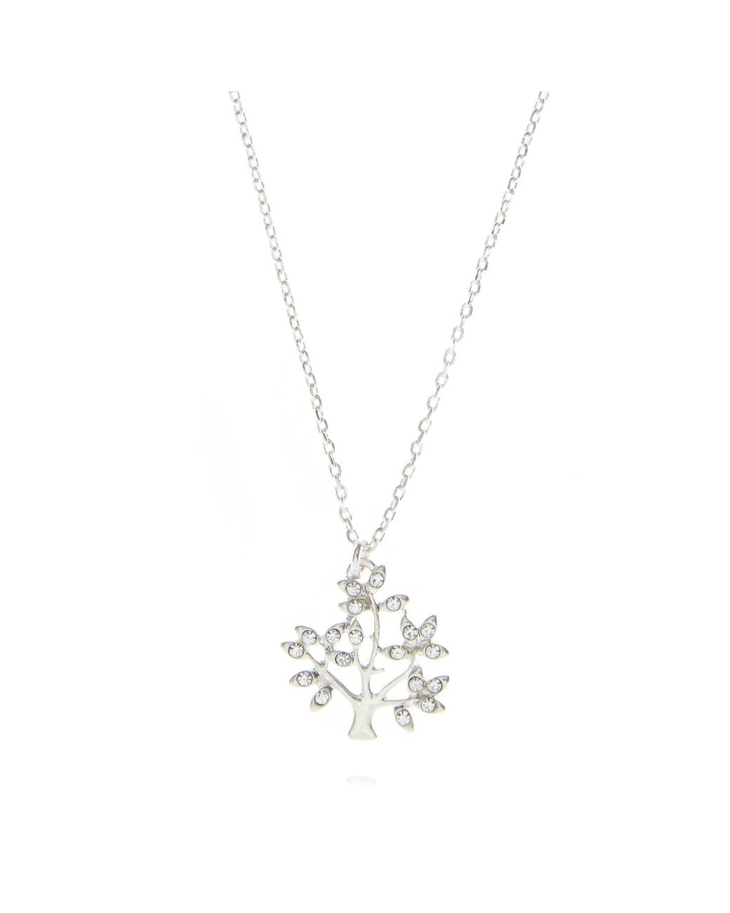 3c762dd23 Pilgrim Silver Plated Crystal Tree Necklace in Metallic - Lyst