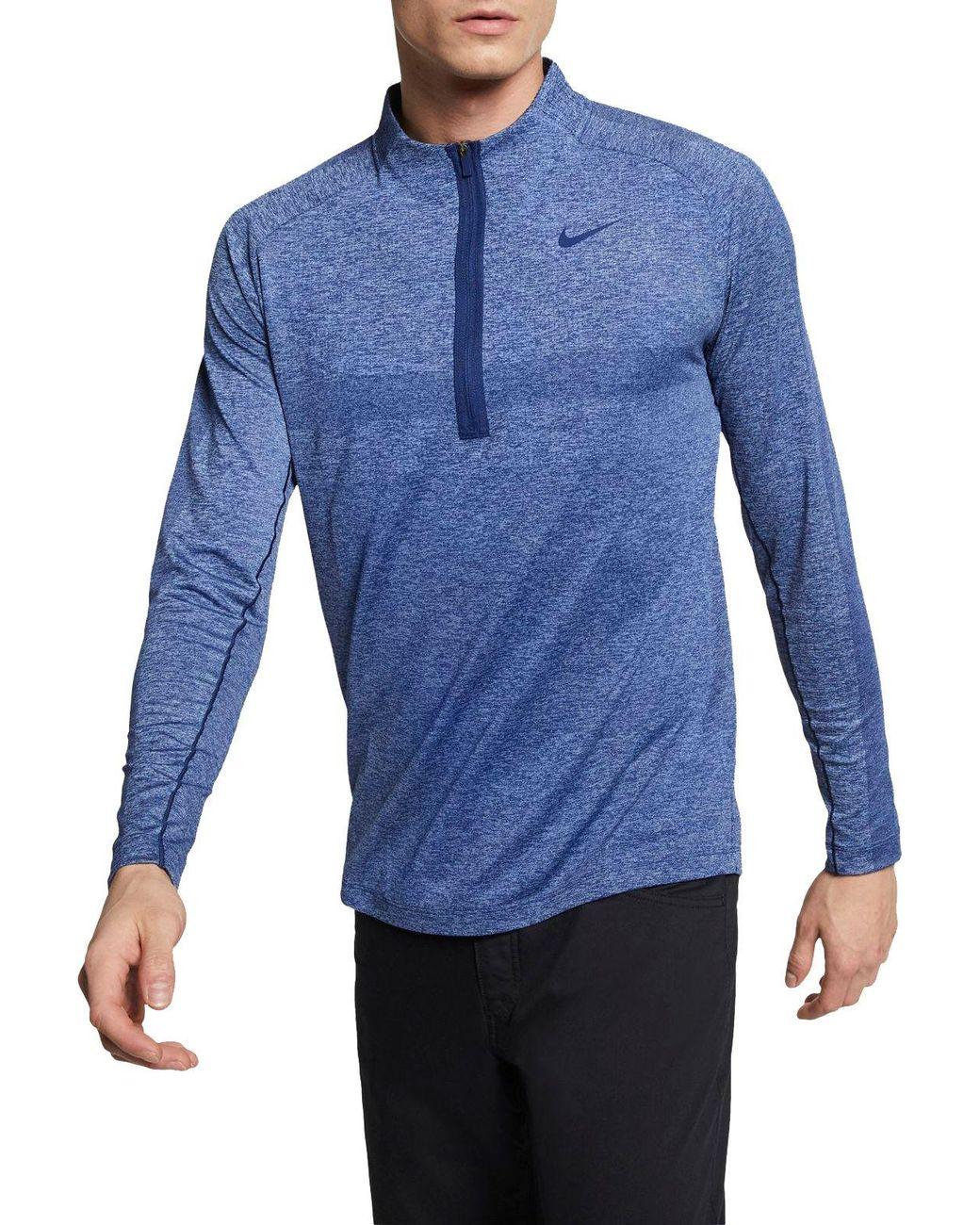 1f33901c7405 Lyst - Nike Seamless Statement Golf 1⁄2 Zip in Blue for Men