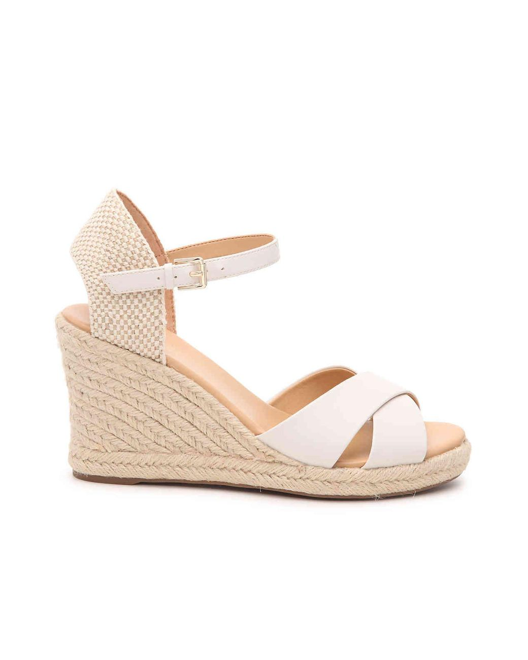 8c5e21c5e Nine West Joydyn 3 Espadrille Wedge Sandal in White - Lyst