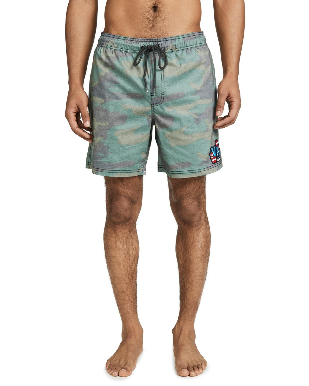 fa03144603 RVCA Daytona Camo Swim Shorts for Men - Lyst